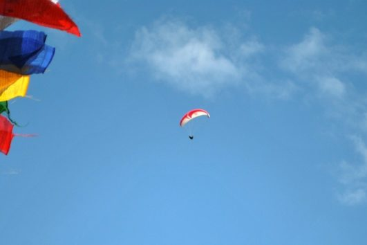 lowland camping paragliding