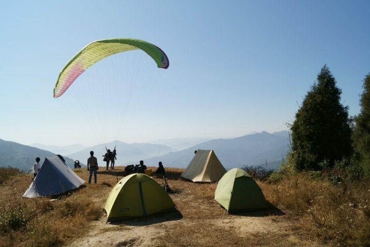 highland camping paragliding